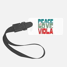 Peace Love Viola Luggage Tag
