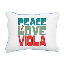 Peace Love Viola Rectangular Canvas Pillow