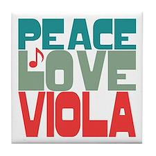 Peace Love Viola Tile Coaster