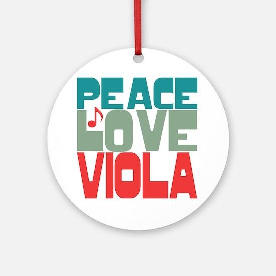 Peace Love Viola Ornament (Round)