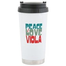 Peace Love Viola Travel Coffee Mug