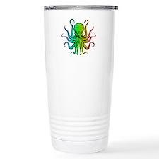 Pastel Rainbow Octopus Travel Mug