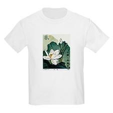 Vintage 1980 China Lotus Flower Postage Stamp T-Shirt