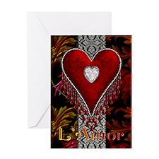 Harvest Moons Diamond Heart Greeting Card