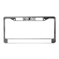 Optometry License Plate Frame