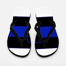 Thin Blue Line - Alabama Flip Flops