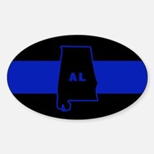 Thin Blue Line - Alabama Decal