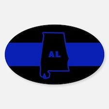 Thin Blue Line - Alabama Sticker (Oval)