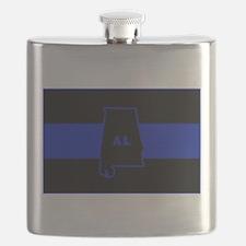 Thin Blue Line - Alabama Flask