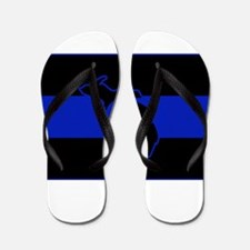 Michigan Thin Blue Line Flip Flops