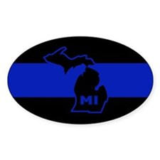 Michigan Thin Blue Line Decal