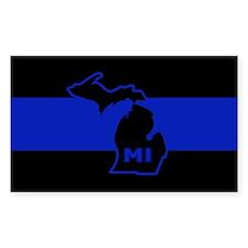 Michigan Thin Blue Line Decal