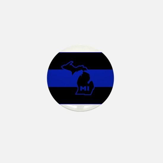Michigan Thin Blue Line Mini Button