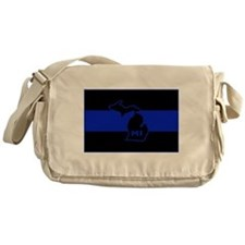 Michigan Thin Blue Line Messenger Bag