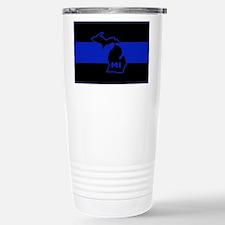 Michigan Thin Blue Line Travel Mug