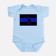Michigan Thin Blue Line Infant Bodysuit