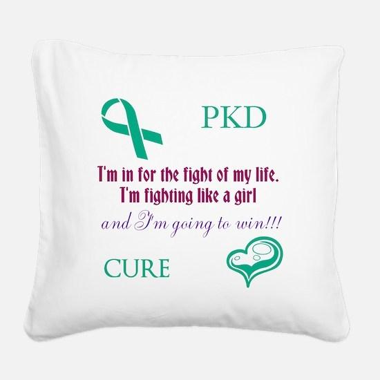 PKD Fight Square Canvas Pillow