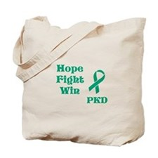 Hope Fight Win Tote Bag