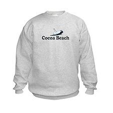 Cocoa Beach - Space Shuttle Design. Sweatshirt