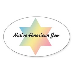 Native American Jew Oval Decal