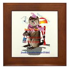 Groundhog Day-6 more weeks Framed Tile