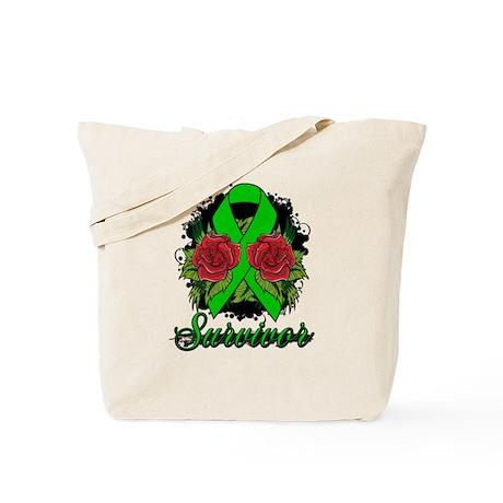 Cerebral palsy survivor rose tattoo tote bag by for Cerebral palsy tattoo