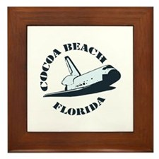 Cocoa Beach - Space Shuttle Design. Framed Tile