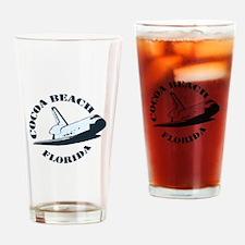Cocoa Beach - Space Shuttle Design. Drinking Glass