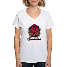 Brain Aneurysm Survivor Rose Tattoo Shirt