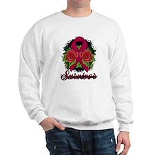 Brain Aneurysm Survivor Rose Tattoo Sweatshirt