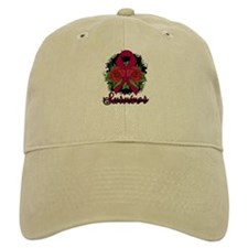 Brain Aneurysm Survivor Rose Tattoo Baseball Cap