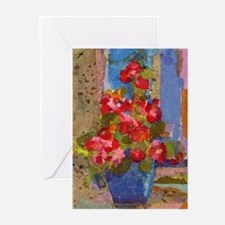 PINK FLOWERS Greeting Cards (Pk of 10)