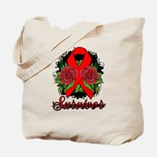 Blood Cancer Survivor Rose Tattoo Tote Bag