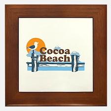 Cocoa Beach - Pier Design. Framed Tile
