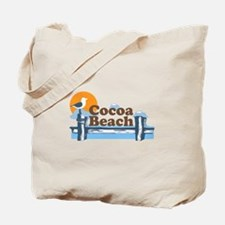 Cocoa Beach - Pier Design. Tote Bag