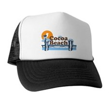Cocoa Beach - Pier Design. Trucker Hat