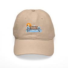 Cocoa Beach - Pier Design. Baseball Cap