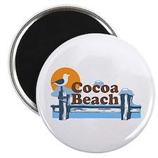 Cocoa Beach - Pier Design. Magnet