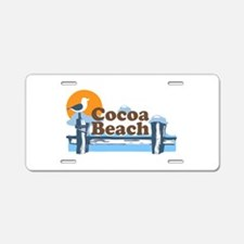 Cocoa Beach - Pier Design. Aluminum License Plate