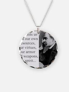 Danger Alone Acquaints Us - Nietzsche Necklace