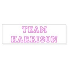Pink team Harrison Bumper Bumper Sticker