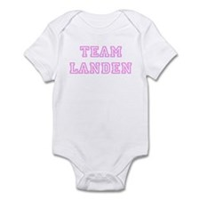 Pink team Landen Infant Bodysuit