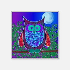 "Moon Owl Square Sticker 3"" x 3"""