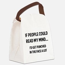 Read My Mind Canvas Lunch Bag