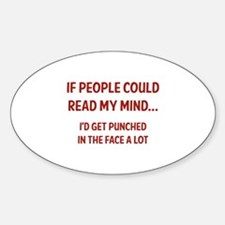 Read My Mind Sticker (Oval)