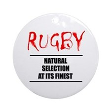 Rugby Natural Selection Ornament (Round)