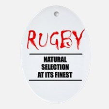 Rugby Natural Selection Ornament (Oval)