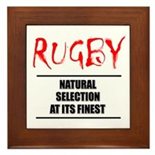 Rugby Natural Selection Framed Tile