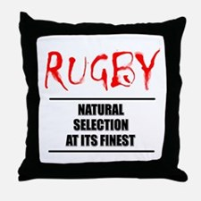 Rugby Natural Selection Throw Pillow