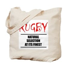 Rugby Natural Selection Tote Bag